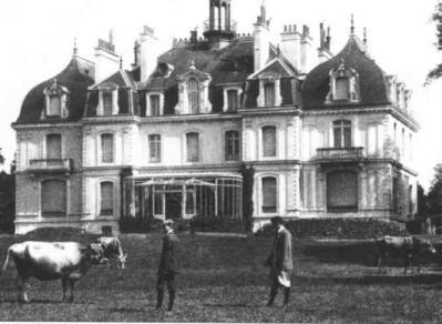 Vue du chteau de la Briantais au début du 20e siècle